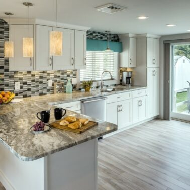 Kitchen Remodeling - custom tile backsplash - Exodus Construction - luxury coastal homes builder South County RI
