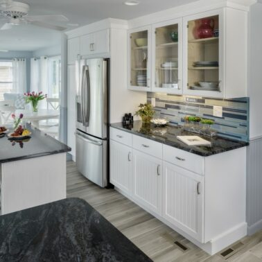 Kitchen Remodeling - Center island - Exodus Construction - luxury coastal homes builder South County RI