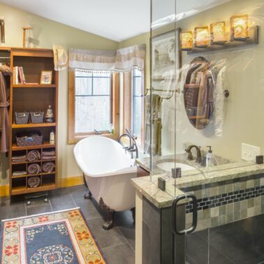Bathroom Remodel - Custom glass shower enclosure