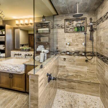 Bathroom Remodel - Custom overhead lighting