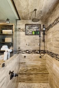 Bathroom Remodel - Custom shower fixtures