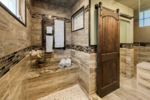 Bathroom Remodel - Custom sliding door