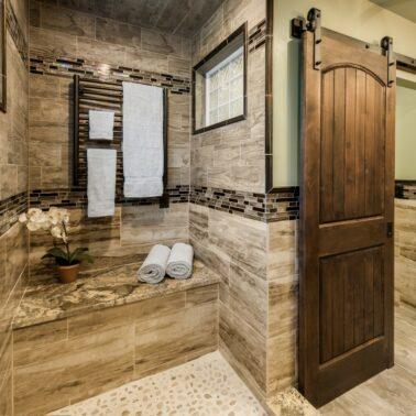 Bathroom Remodel - Custom sliding door
