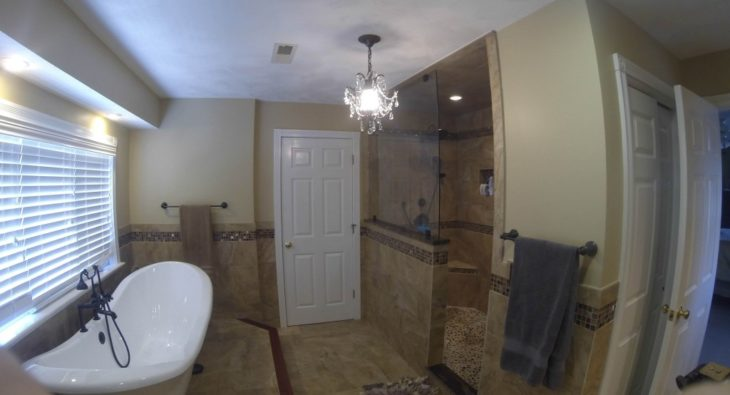 Bathroom Remodel - Completed project in RI by Exodus Construction - luxury coastal homes builder South County